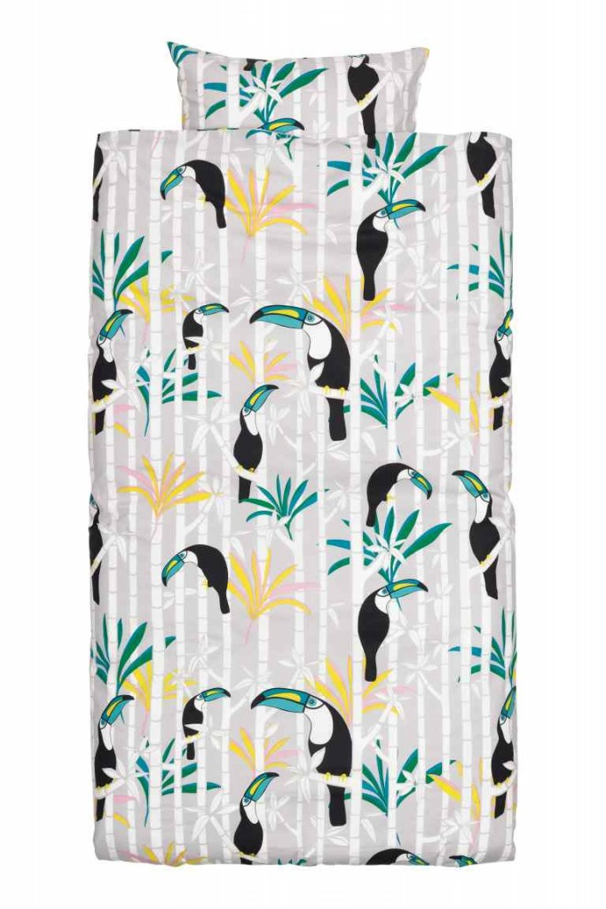 H&M Toucan print bedsheets