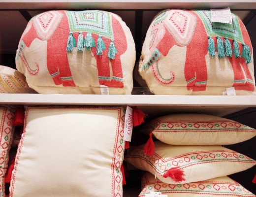 Primark elefant cushion