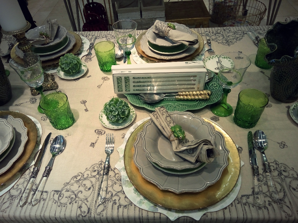 Zara Home tableware in green