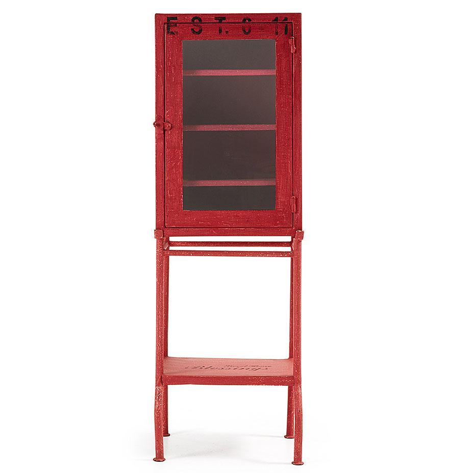 Red industrial sideboard
