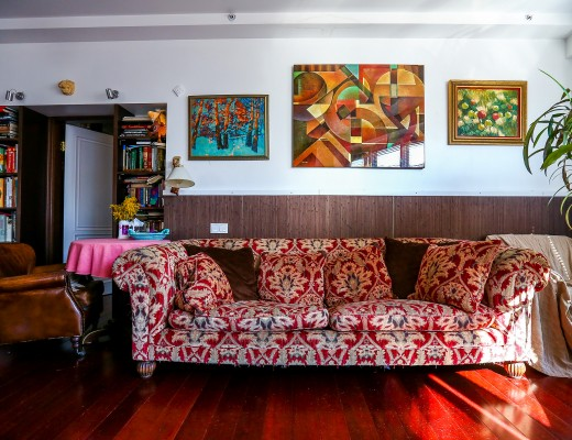 Tetrad sofa in a colonial style living room