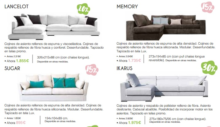 La Oca Sofas on sale