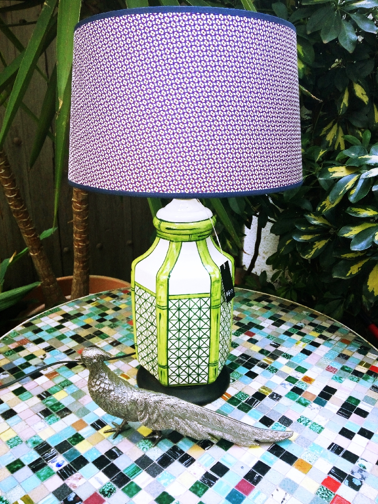 Hand-painted vintage lamp