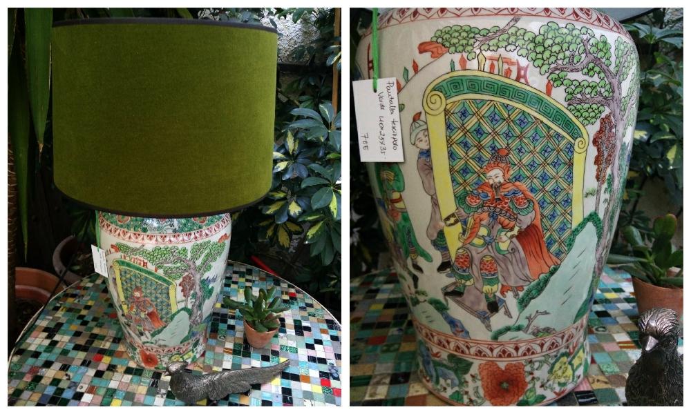 Chinese vase turned lamp