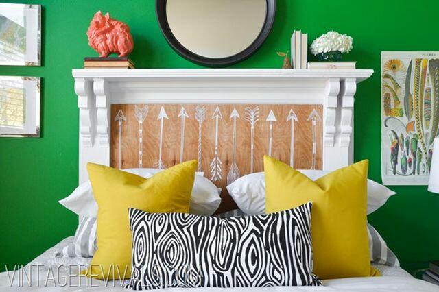 fireplace bedhead