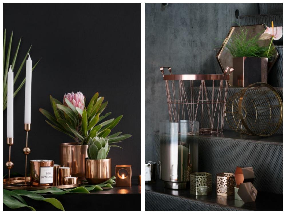H&M Home copper decor