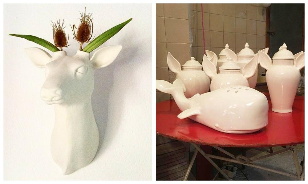 Animalistic ceramics by Guille García-Hoz