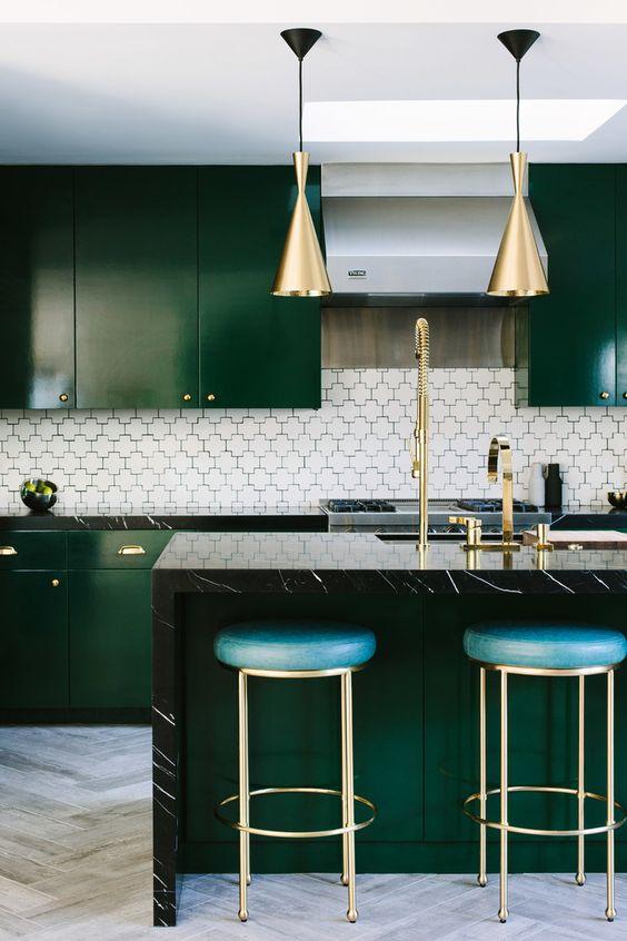 Tom Dixon Beat Emerald Kitchen