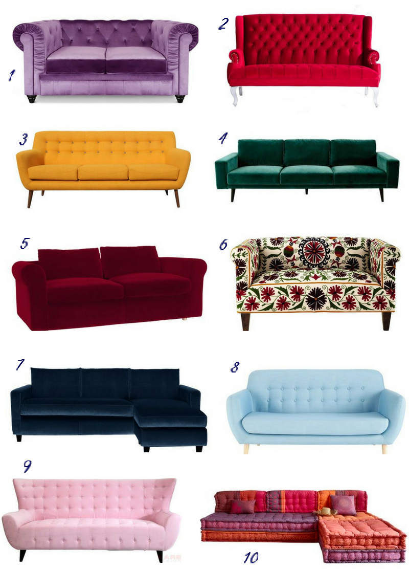 My roundup of 10 statement sofas in Spanish shops