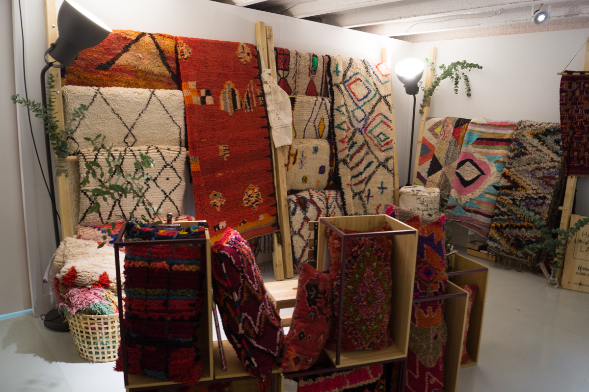 Vintage rugs from Hands and Lands at Singulares Inventory Room