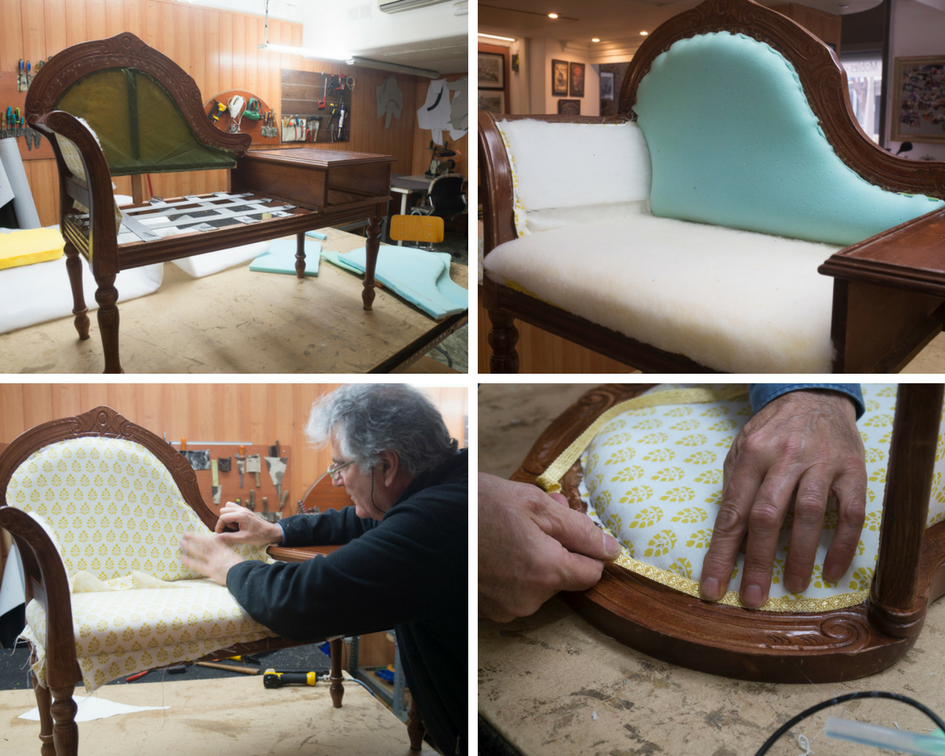 Upholstering process