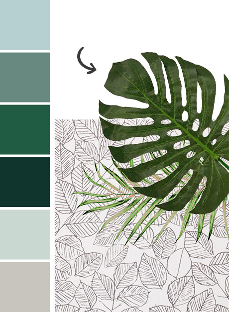 Green Addict tendency Maisons du Monde: colour palette