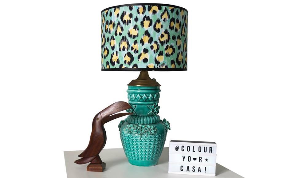 Manises vase turned lamp