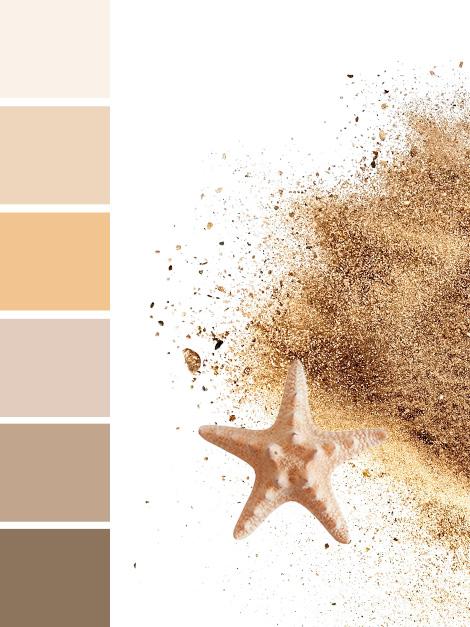 Maisons du Monde Spring-Summer 2018 Golden Oasis color palette