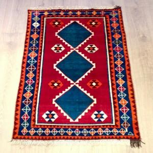 Tribal patterned Gabbeh rug