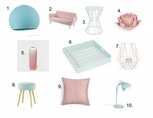Collage rose quartz and serenity items in stores