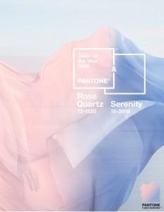 Rose Quartz and Serenity - Pantone colors of the year 2016