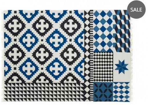 Blue kilim rug