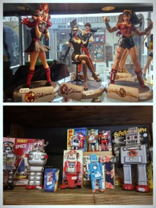 Female superheroes and robots