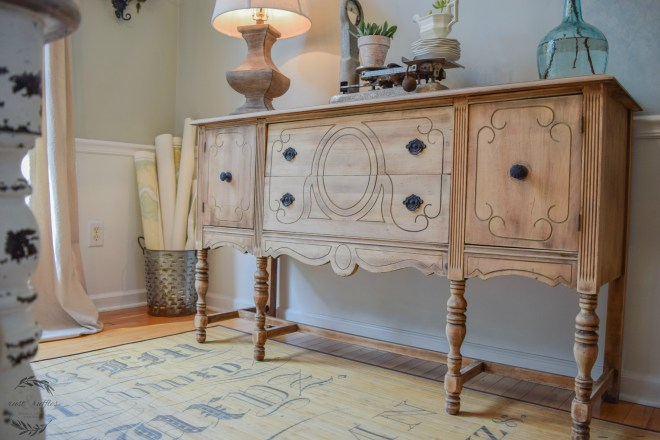 Rustic antique sideboard