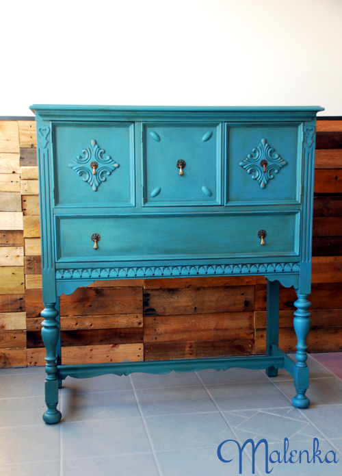 Blue chalk paint buffet