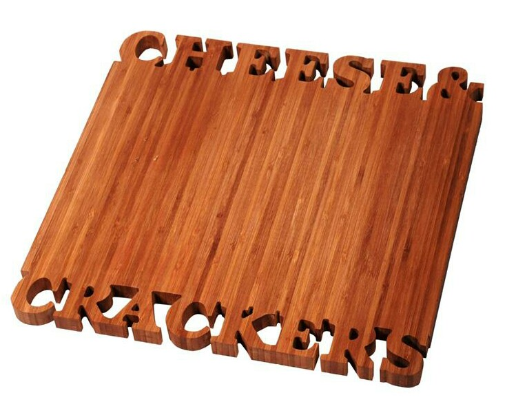 Cheese and crackers cutting board