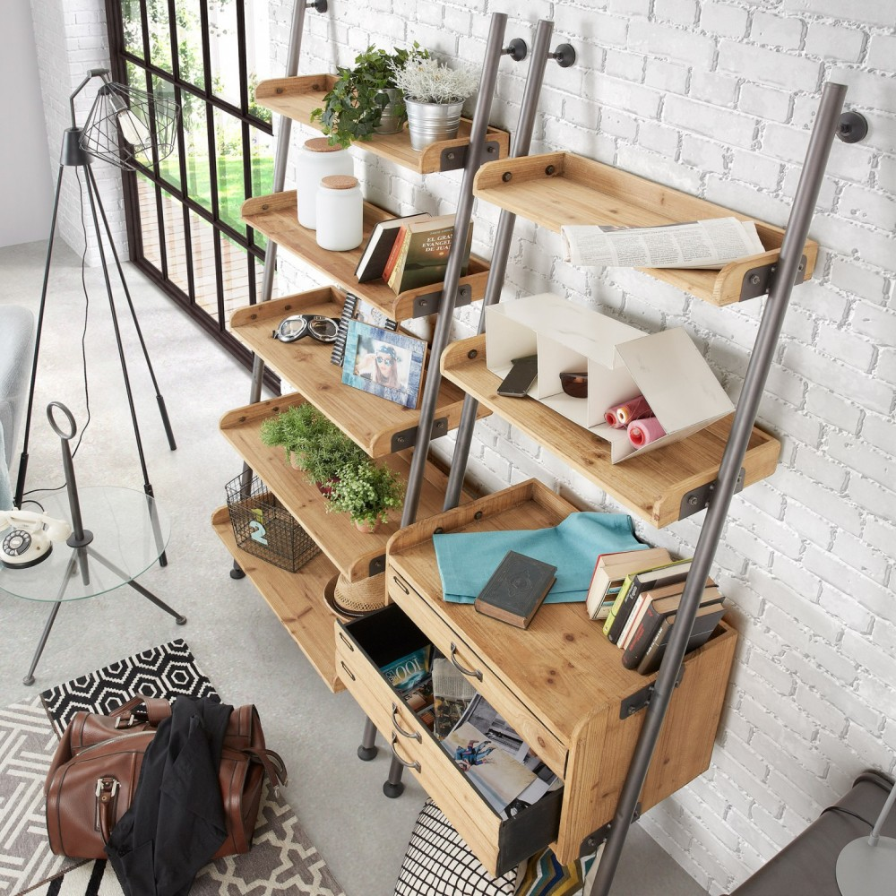 Industrial style shelves