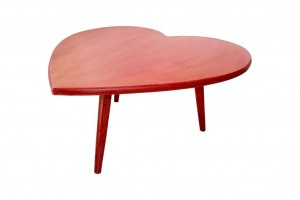 Red heart-shaped coffee table