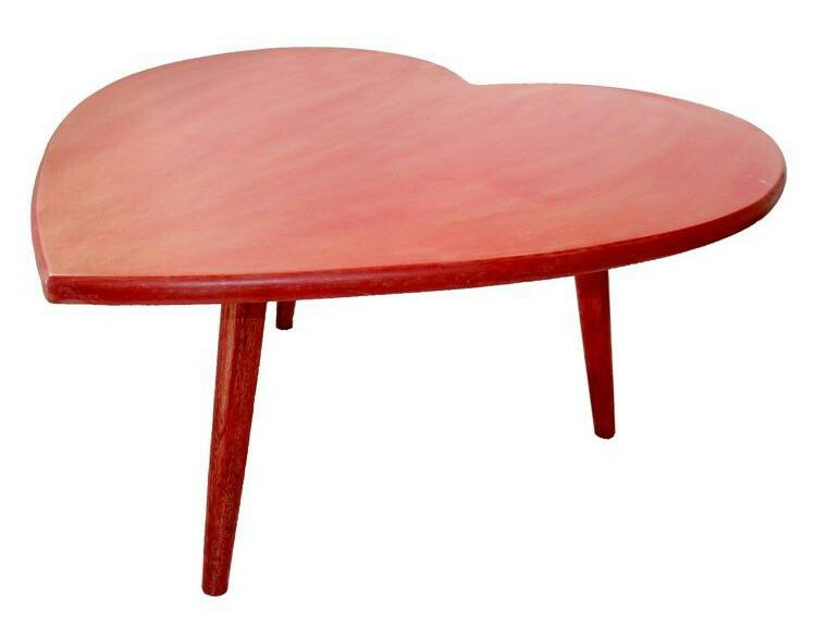 Heart-shaped red coffee table
