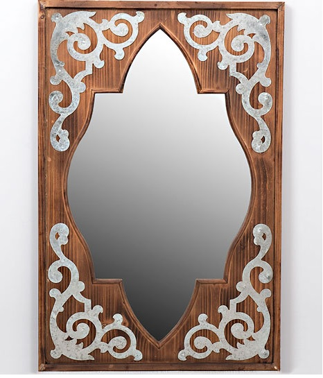 Morrocan style vintage mirror