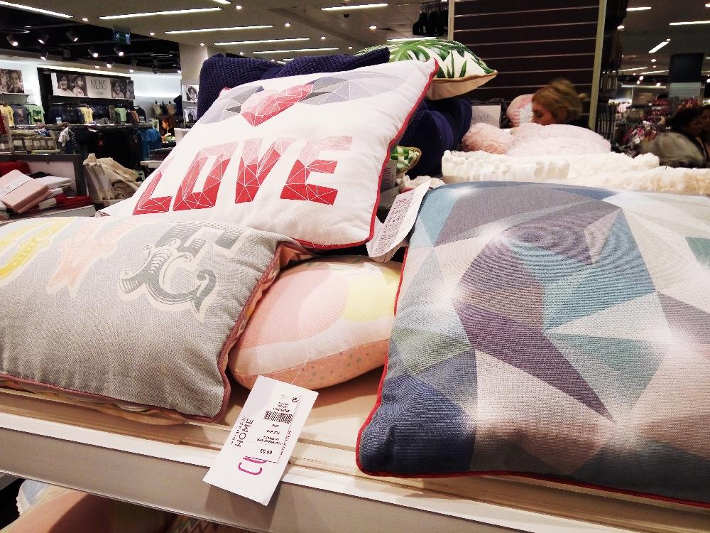 Primark Love cushions