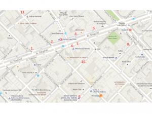 Avenida Diagonal home decor shops map