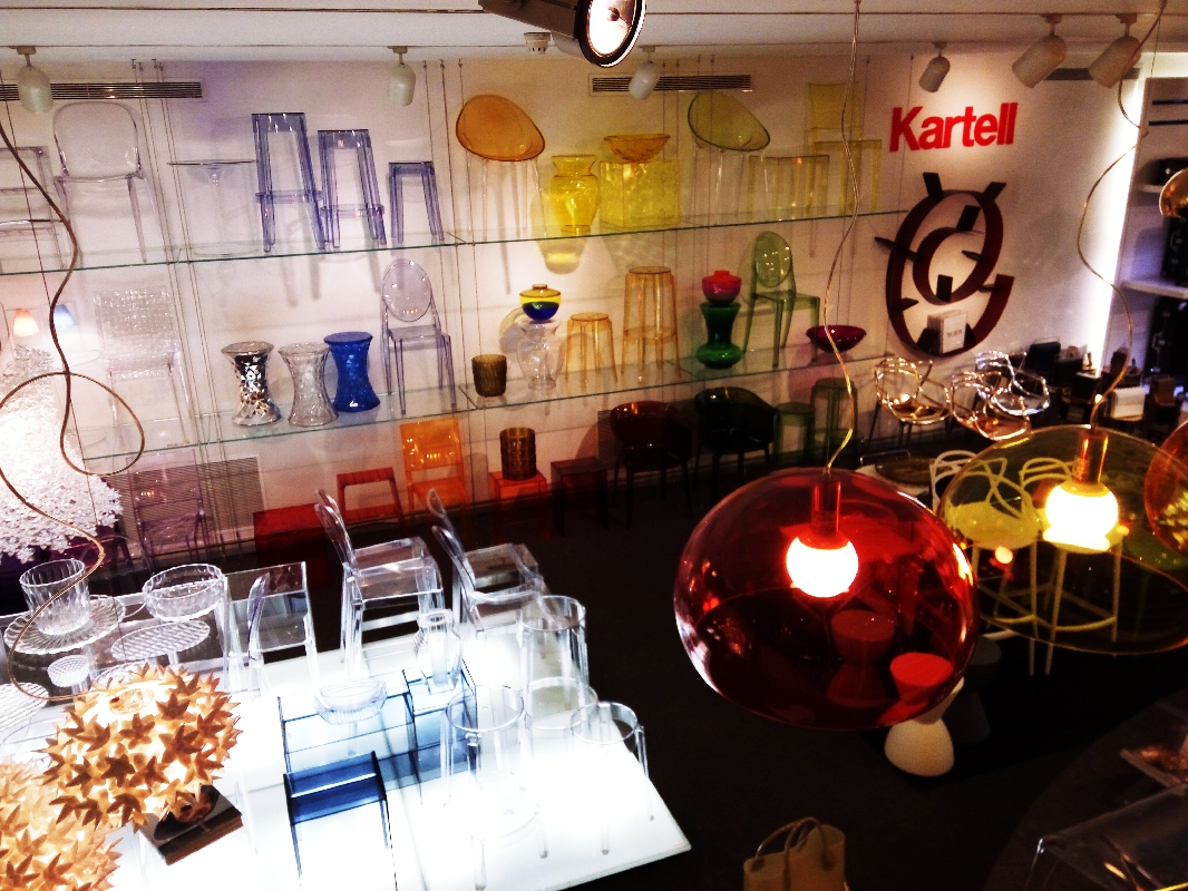 Kartell plastic furniture in Pilma shop