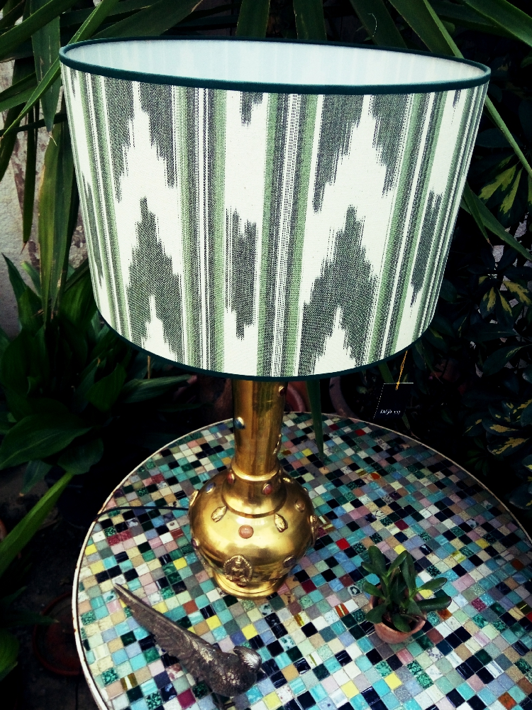 Brass and agate lamp