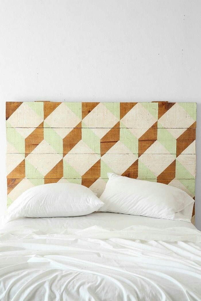 Geometrical pattern bedhead