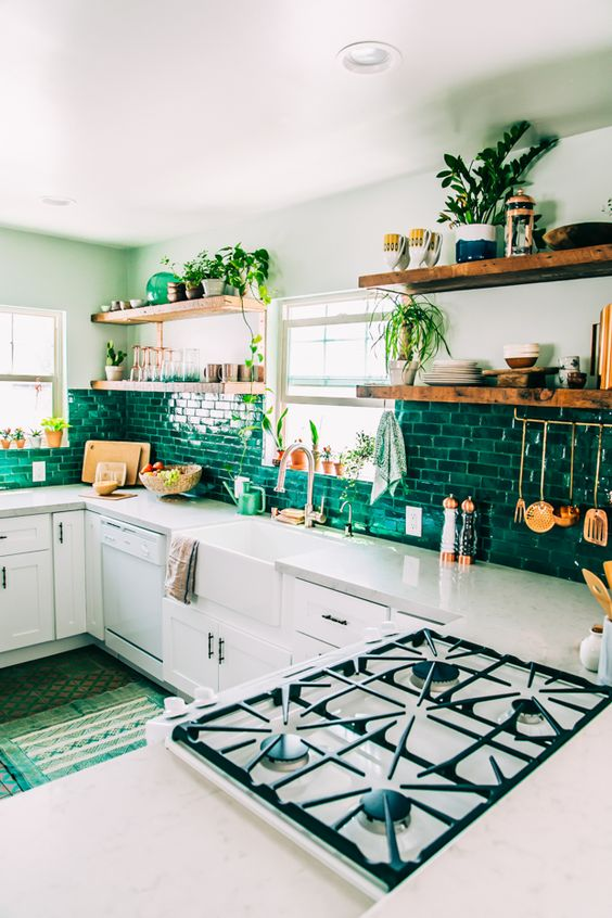 Emerald green kitchen 2