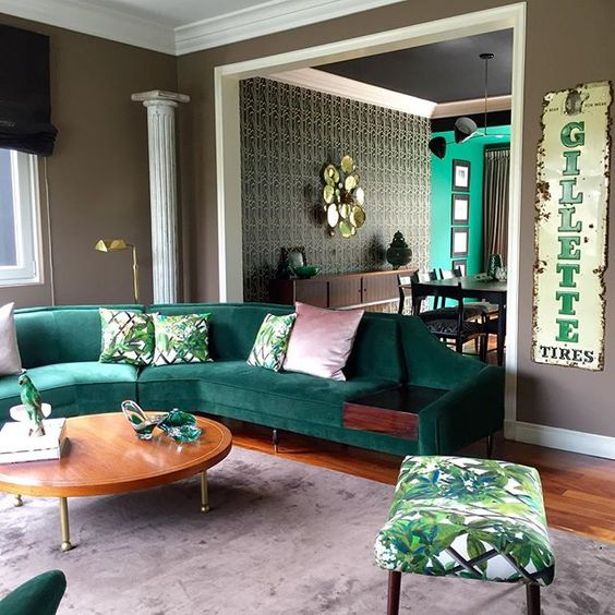 Emerald green sitting sofa