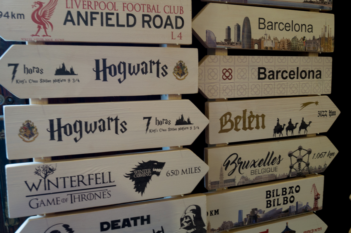 Signposts from DirtyChic at Palo Alto Market Barcelona