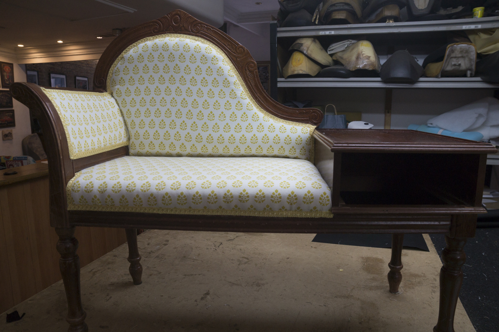 first Upholstery project finished