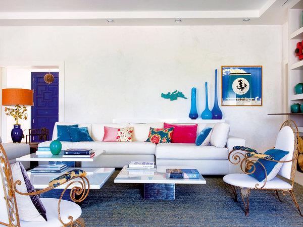 Mediterranean style living room by Marta de la Rica