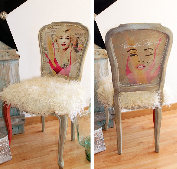Marilyn Monroe inspired fluffy chair