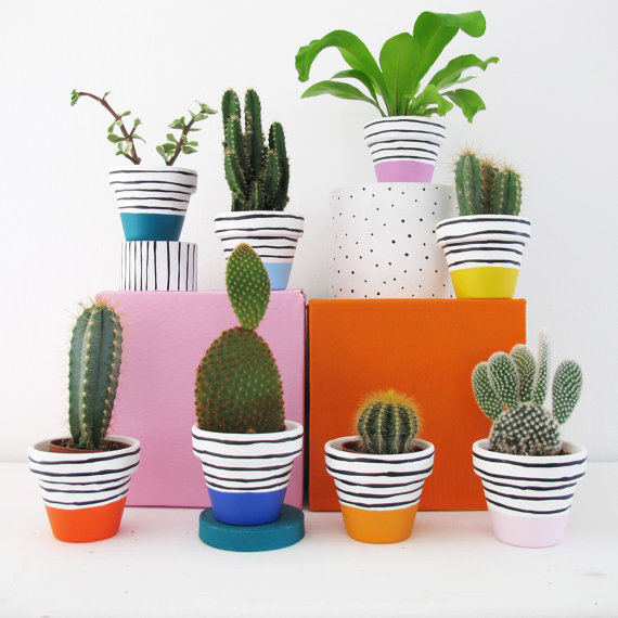 Plant pots you can find on Etsy