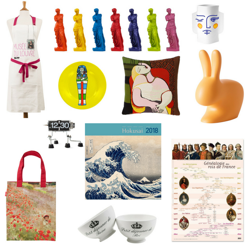 Louvre and other Paris museums shop collage