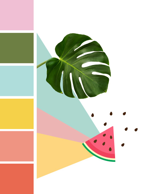 Maisons du Monde Spring-Summer 2018 Sweet Tropical color palette