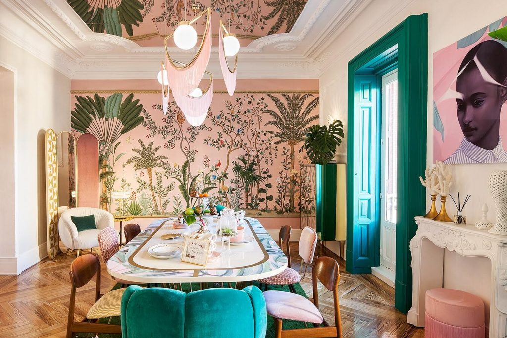 Virgina Gasch´s tropical dining room at Casa decor 2018