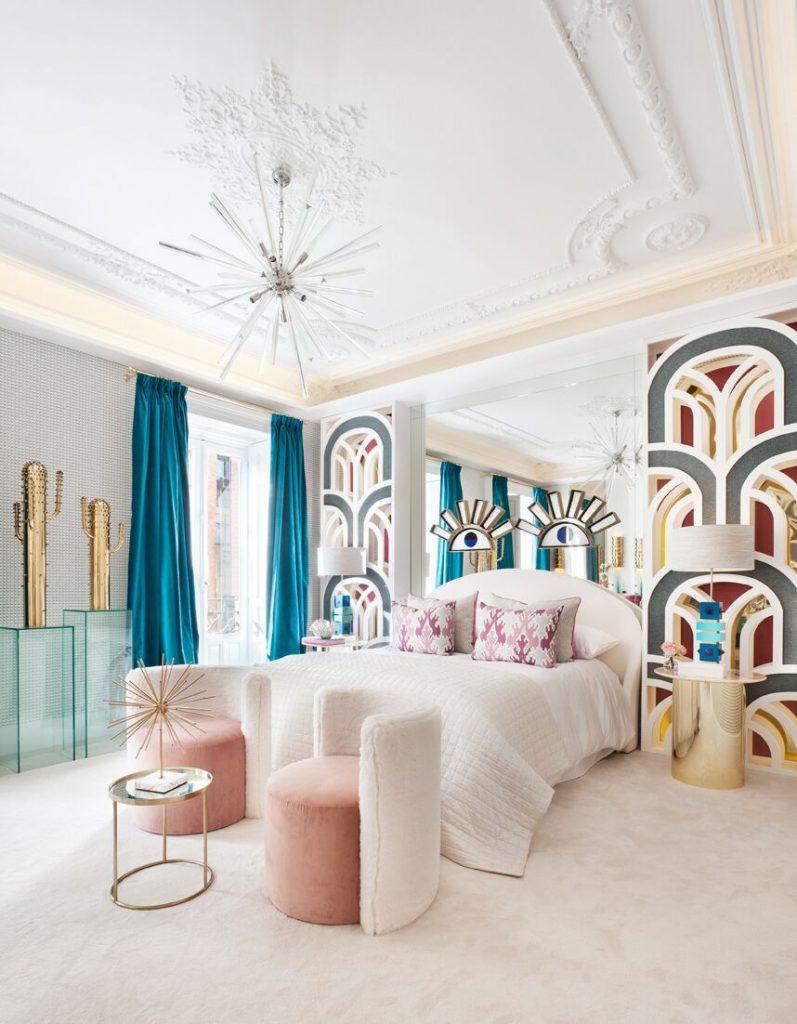 Nuria Alia's bedroom at Casa Decor 2018