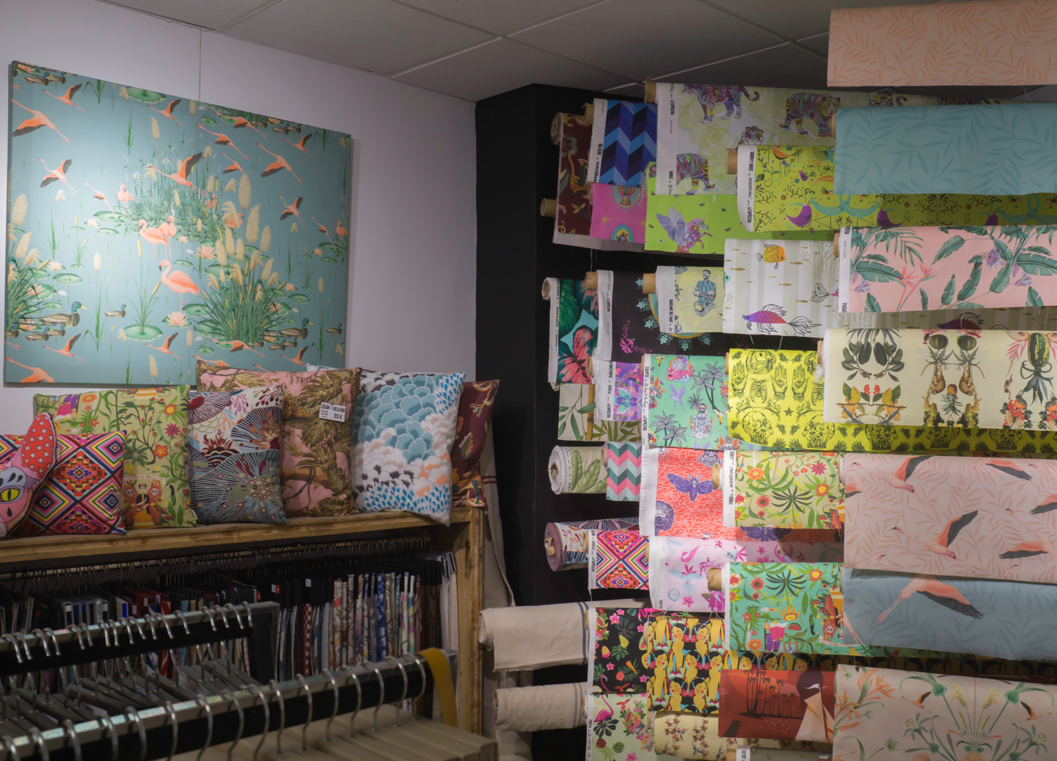 La Tapicera textile and upholstery shop at Madrid Rastro