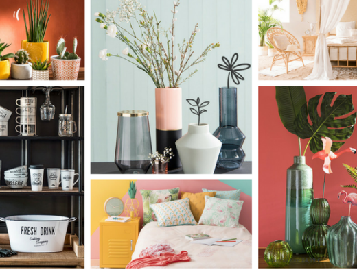 Maisons du Monde Spring-Summer 2018 collection collage