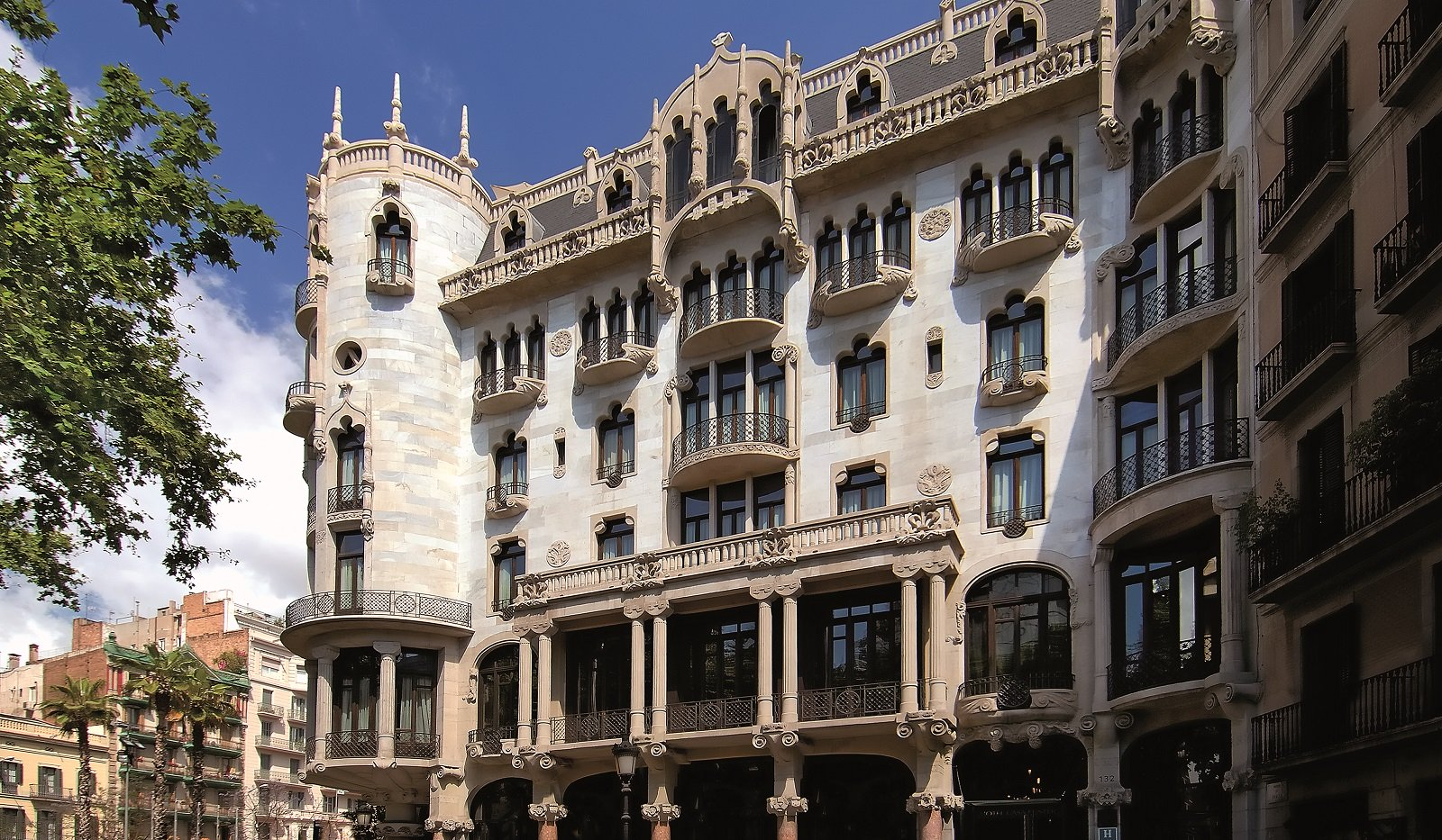 Facade of Casa Fuster hotel in Barcelona