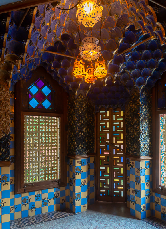 Blue smoking room Casa Vicens, Barcelona